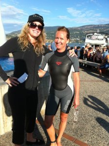 okanagan lake, kelowna, swim across the lake, summer, swimming