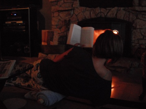 fire, books, reading, pjs, rolling pin
