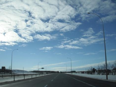 highway, sky, trucks, alberta, edmonton, calgary, driving, road trip