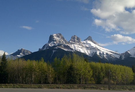 three sisters, rocky mountains, rockies, alberta, canmore
