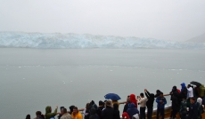 Hubbard Glacier and wet people!